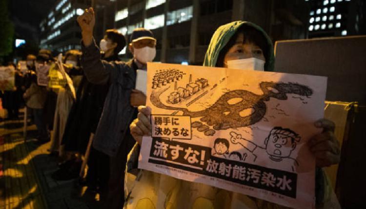 日本,福岛核污水,示威