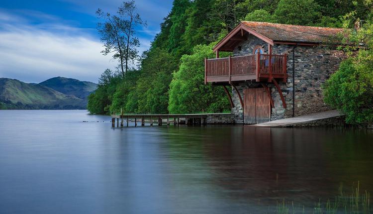 湖边,湖水,
