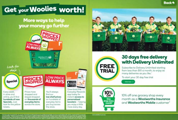 Woolworths打折促销