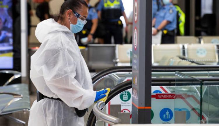 西澳珀斯机场,西澳疫情,消毒