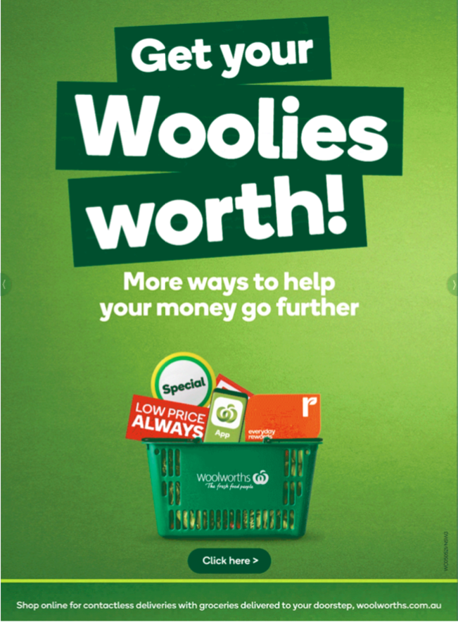 Woolworths优惠全目录