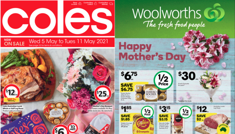 coles,Woolworths