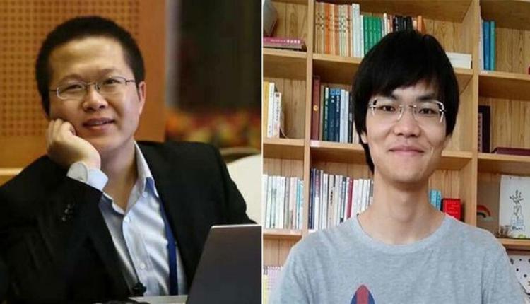 """遭到逮捕的北京网站""""端点星""""志愿者陈玫(左)与蔡伟(脸书截图)"""
