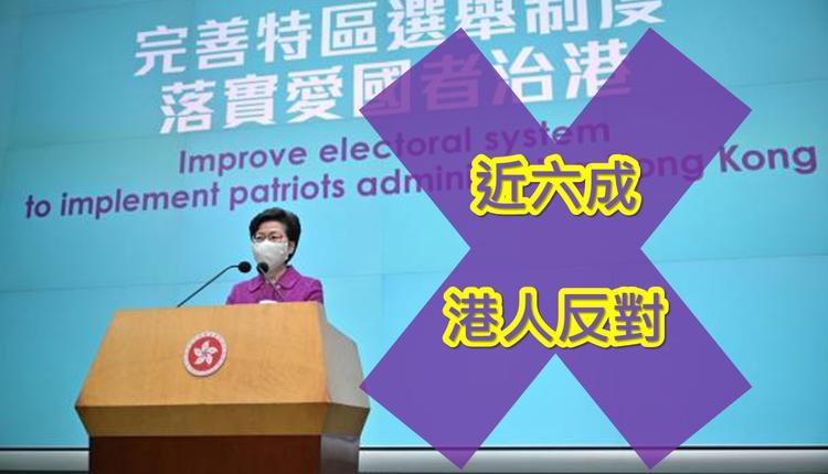 近六成港人反对新选制