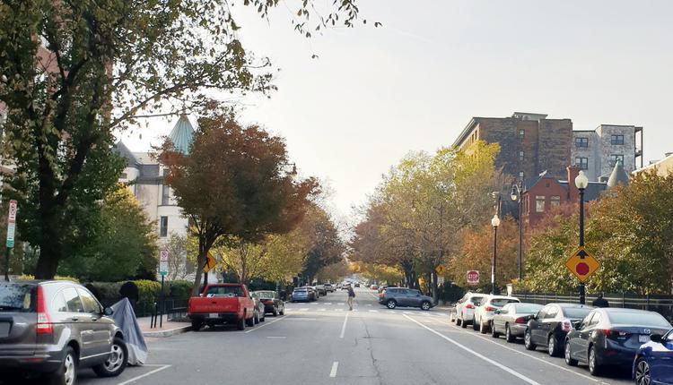 华盛顿街景,美国房市,房产。