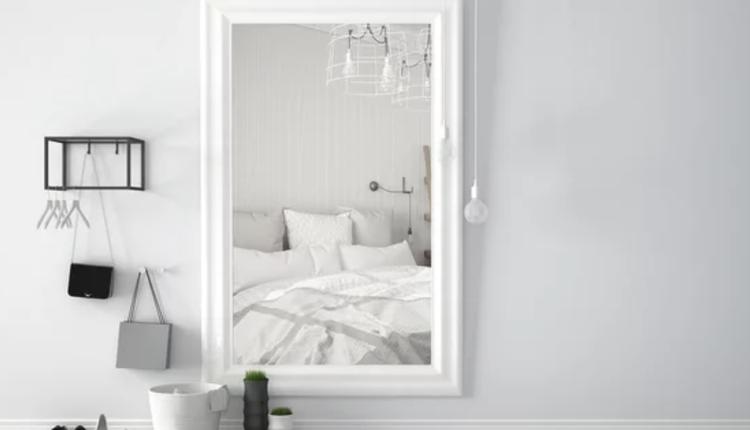 卧室,镜子