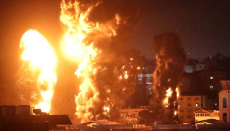 5月17日凌晨,以色列空袭加沙