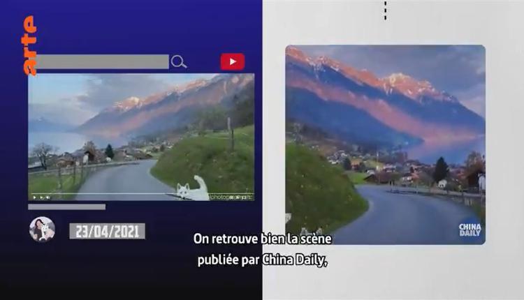 中国日报日前在推特发布观光宣传短片,却被发现画面根本在瑞士。