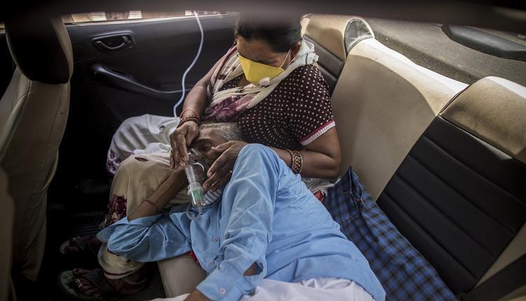 印度疫情,氧气面罩,印度