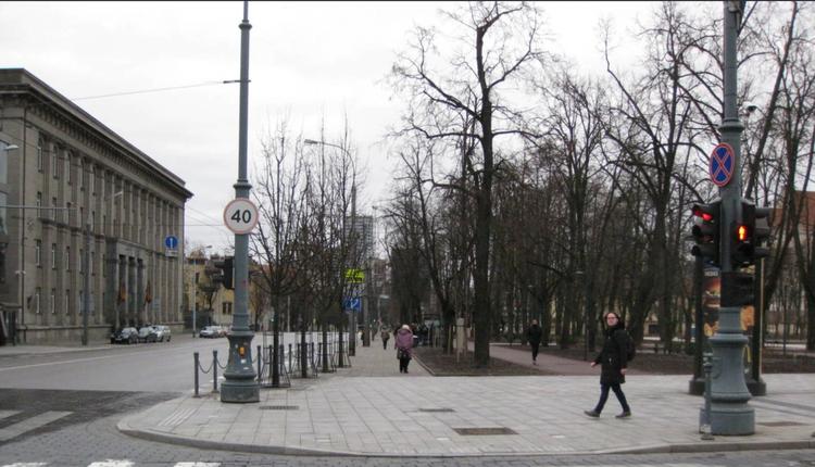立陶宛首都维尔纽斯市中心的格蒂米纳斯大街
