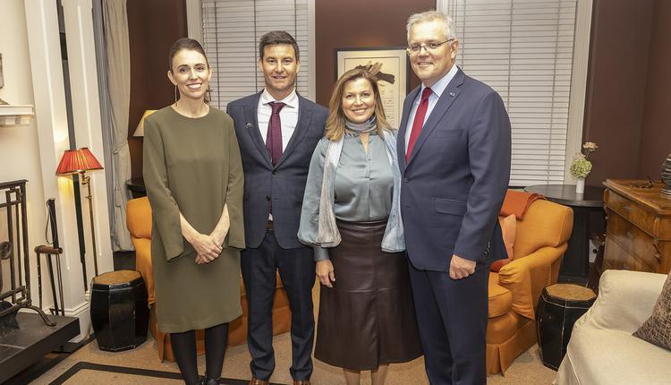 澳新两国总理及配偶