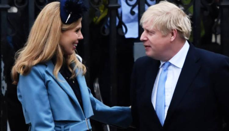 英国首相约翰逊及夫人西蒙兹