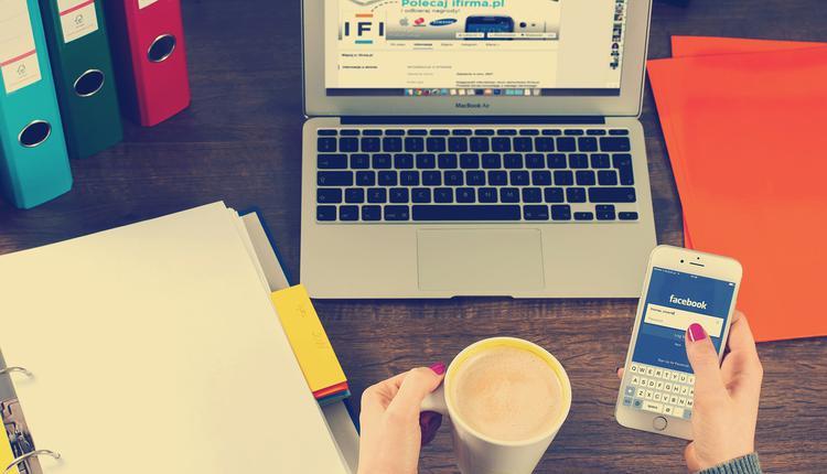 社交媒体,脸书,工作,市场经营,电脑