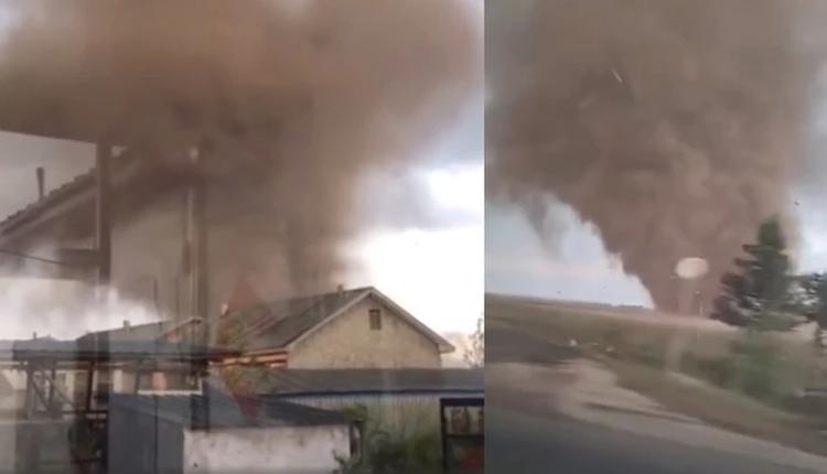 龙卷风突袭哈尔滨 造成1死16伤