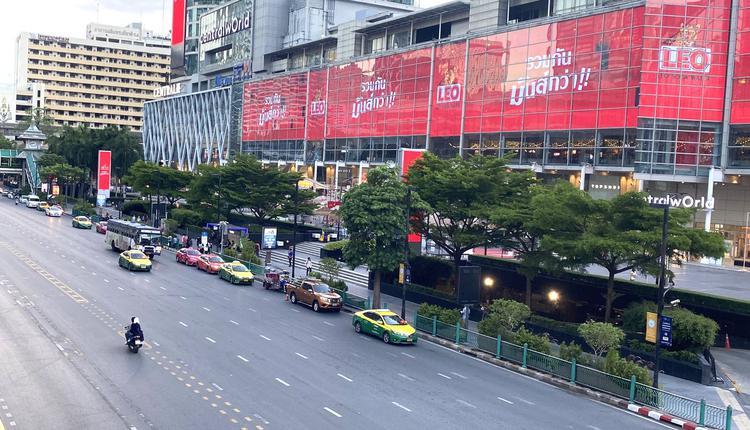 泰国曼谷地标世贸中心 疫情