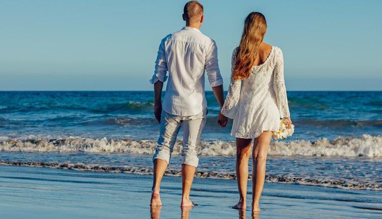 海边,海滩,男女朋友,伴侣,夫妻