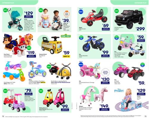 BIG W玩具打折促销