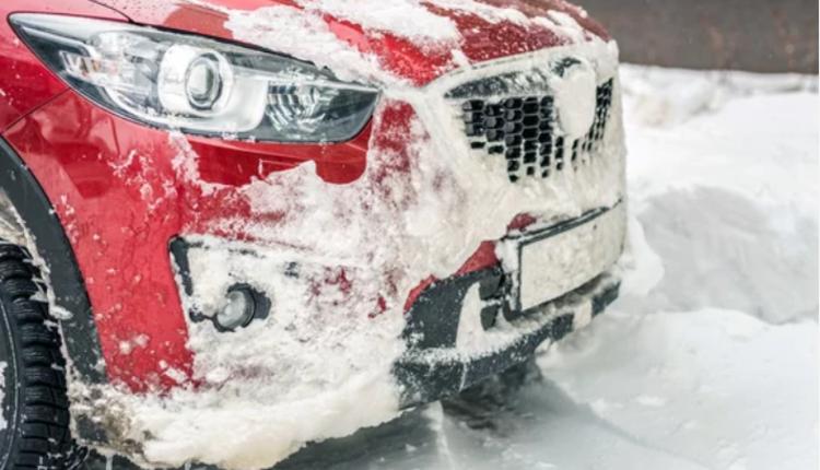 冬季,洗车,汽车,下雪
