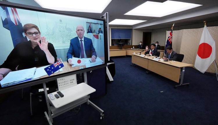 澳洲和日本的外交部长、国防部长举行二加二会谈