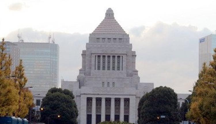 图为日本国会大厦。
