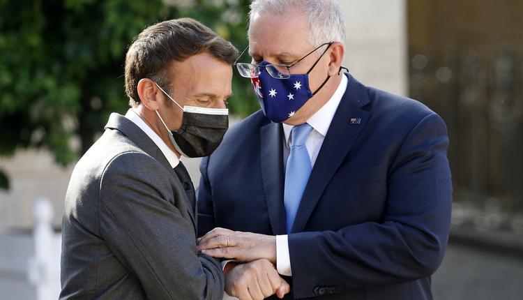French President Macron   Scott Morrison