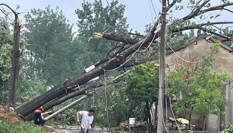 江苏徐州市铜山区房村镇、伊庄镇遭遇极端天气