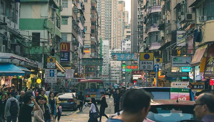 香港城市生活示意图