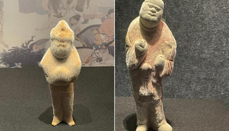 陕西博物馆的陶俑长毛
