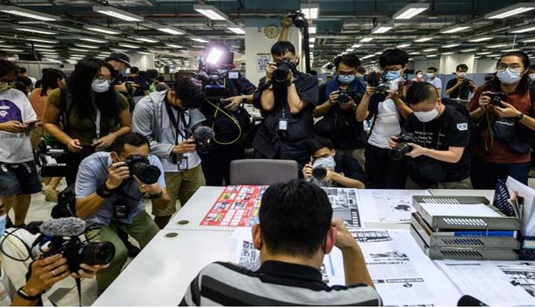 传媒采访苹果日报