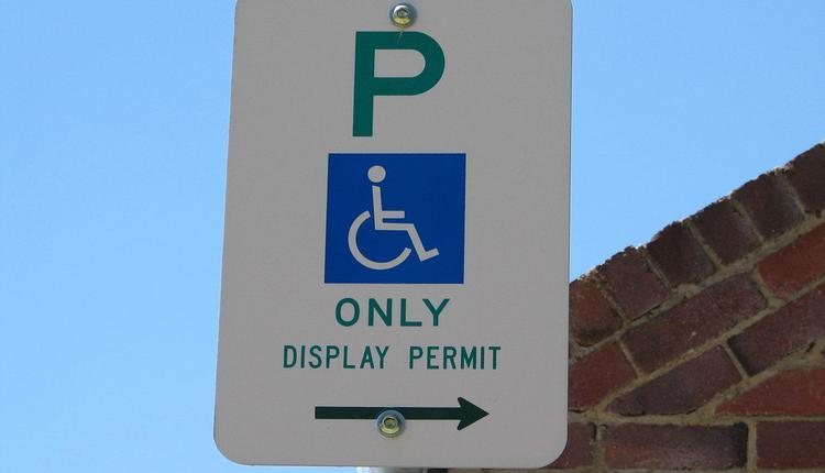 澳洲,残疾人停车位,停车位
