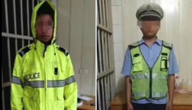 假交警拦警车拟罚款  河南4男子智商堪忧