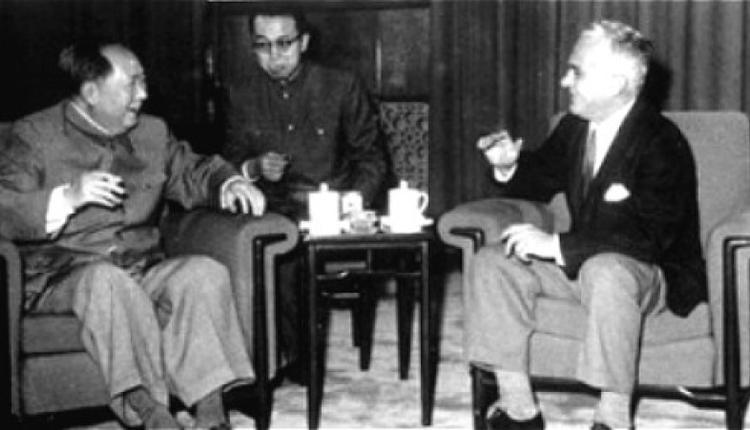 1965年毛泽东会见斯诺