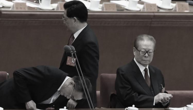 胡锦涛与江泽民