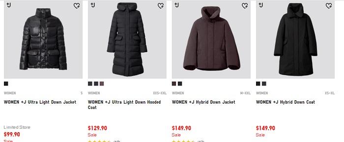 +J联名系列保暖大衣