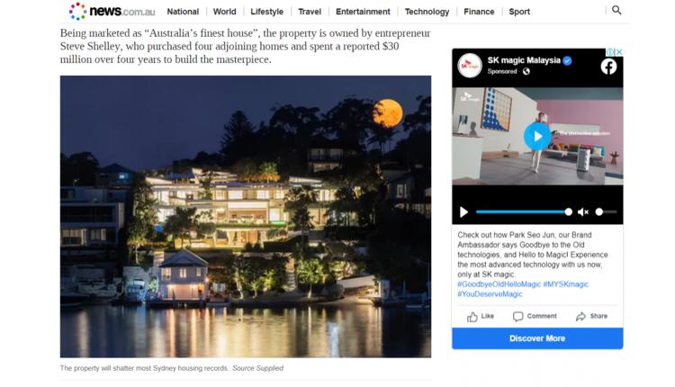 澳大利亚悉尼南部一栋史诗般的豪宅已经正式对外出售
