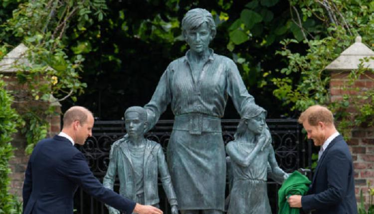 威尔士王妃,戴安娜塑像,威廉王子,哈里王子