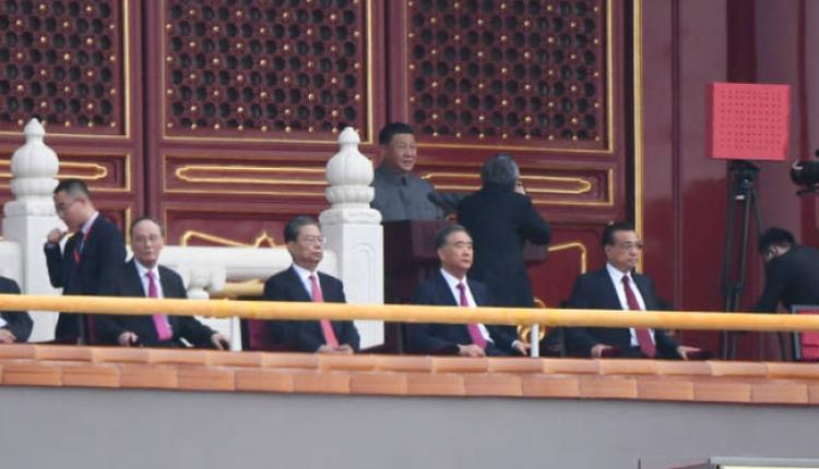中共在北京的天安门广场上举行建党百年的庆祝活动