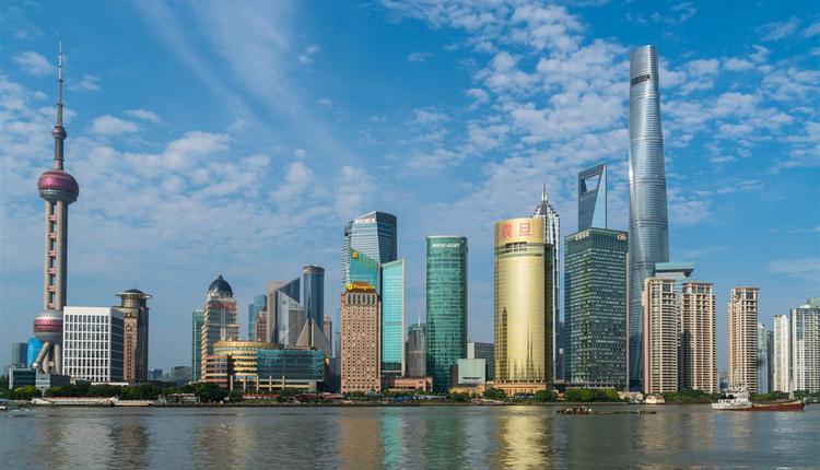 圖為上海一景