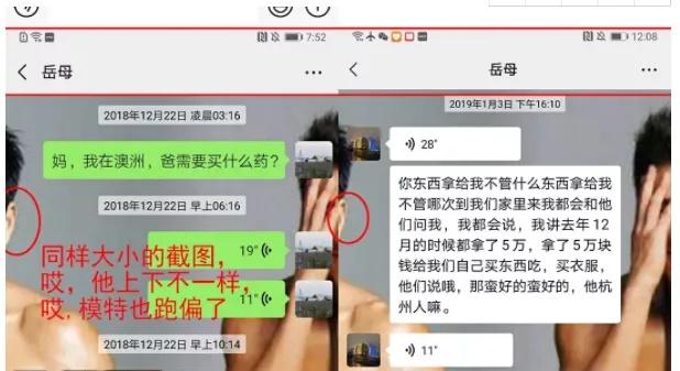 有网友指出 林生斌发布的聊天记录是P的