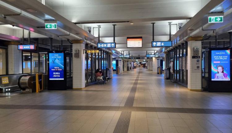 悉尼Townhall 火车站 澳洲疫情