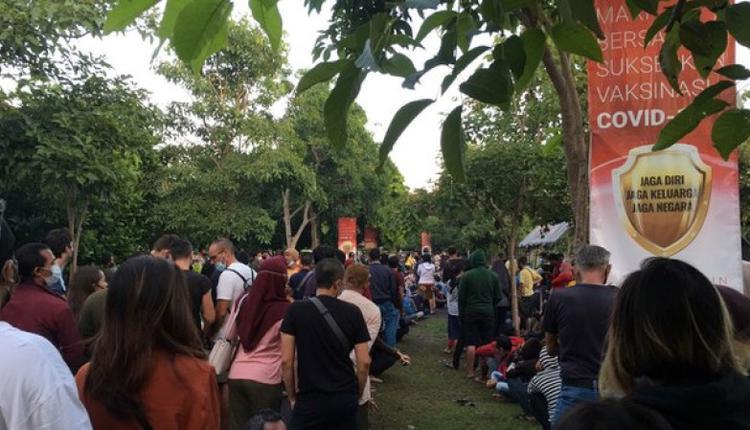 图为7月10日巴厘岛接种疫苗情况