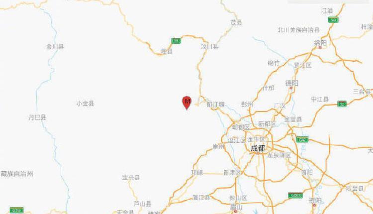 四川阿坝藏族羌族自治州汶川县,发生规模4.8地震
