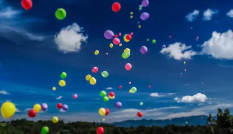 户外放飞气球