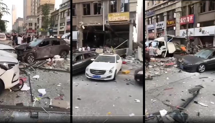 山东烟台中海国际社区快餐店发生爆炸