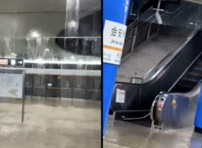 北京持续暴雨 山体滑坡地铁关闭列车停运飞机停飞