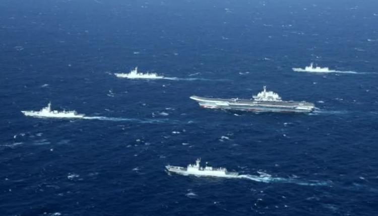 中国海军编队