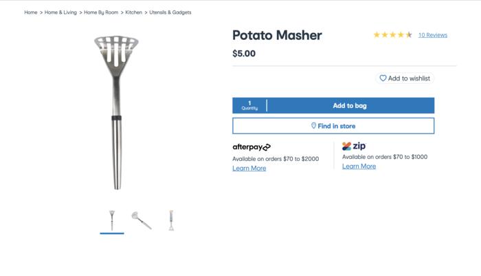 Kmart厨房用具