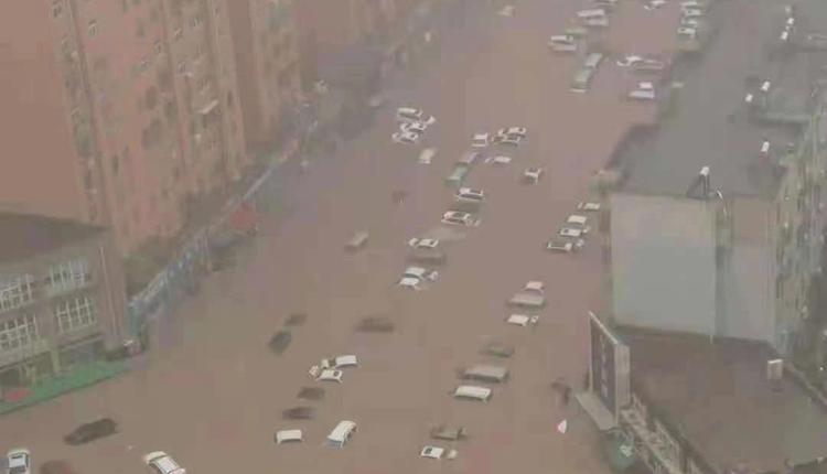 郑州整个城市都被泡在水中