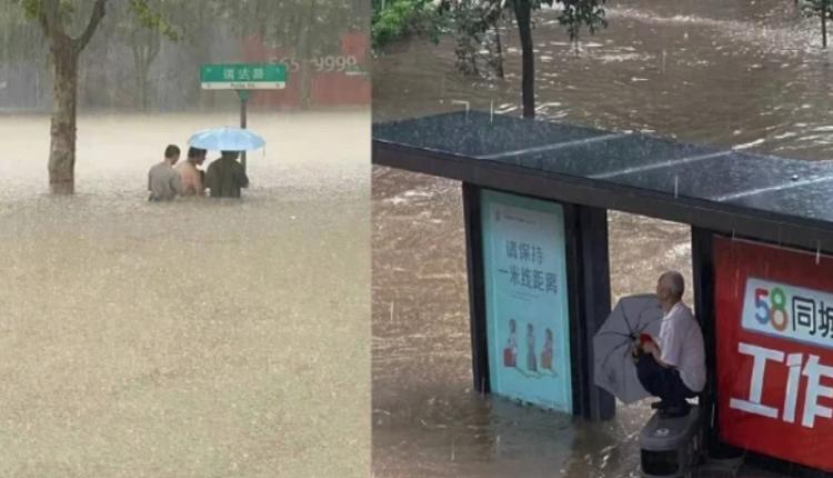 郑州暴雨内涝严重(图片来源:微博)