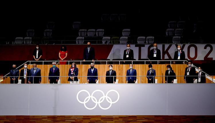 参加东京奥运的多国政要